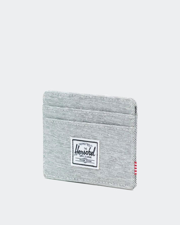 Charlie Wallet + RFID  - Light Grey Crosshatch