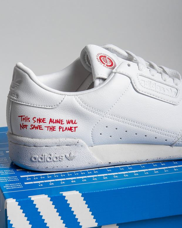 Adidas Originals - Continental 80 Vegan - Cloud White/Scarlet