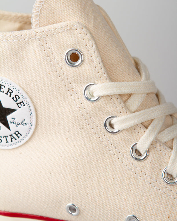 The Converse All Star Chuck '70, an all-time favourite in the streetwear community. This sneaker has been re-crafted, combining modern details whilst celebrating the original from the 1970s. Packed with the iconic style from that era that we all know and love, and constructed using heavy-grade canvas uppers, fitted with the signature foxing tape and rubber toe caps. Accented with the star-centred patch on the ankle. Shop Converse at FallenFront NZ.