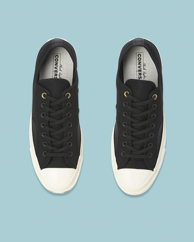 Chuck Taylor All Star '70 Clean N Preme Low in Black. This a wardrobe staple and will suit whatever occasion. Whether is a night out on the town or a work meeting, the timeless look of Converse 1970's has to covered.