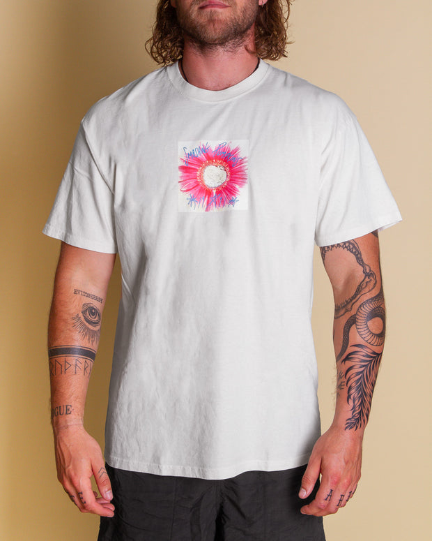 The HUF x Smashing Pumpkins Window Paine Tee in Natural