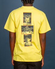 Bringing some classic Kill Bill vibes to your wardrobe. The HUF x Kill Bill Versus Tee in yellow is made from pure cotton and features the Kill Bill artwork screen-printed at the front and film stills printed at the back, highlighting iconic scenes. Signed off with premium trims for a comfortable finish.