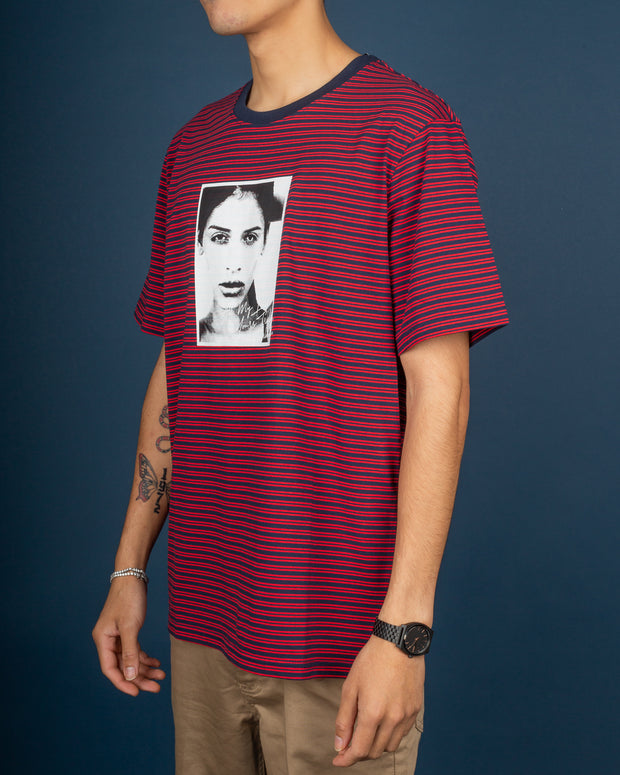 Molly Striped Tee - True Red
