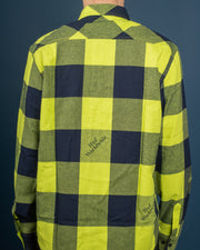 Heights Flannel Shirt - Hot Lime
