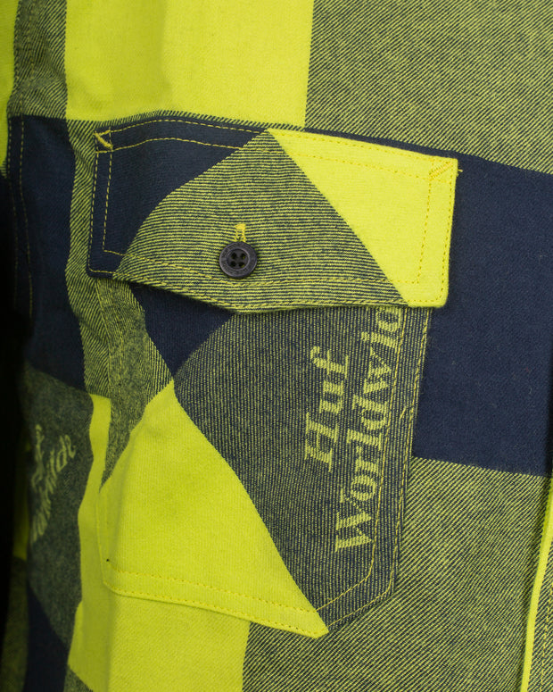 HUF Heights Flannel Shirt - Hot Lime