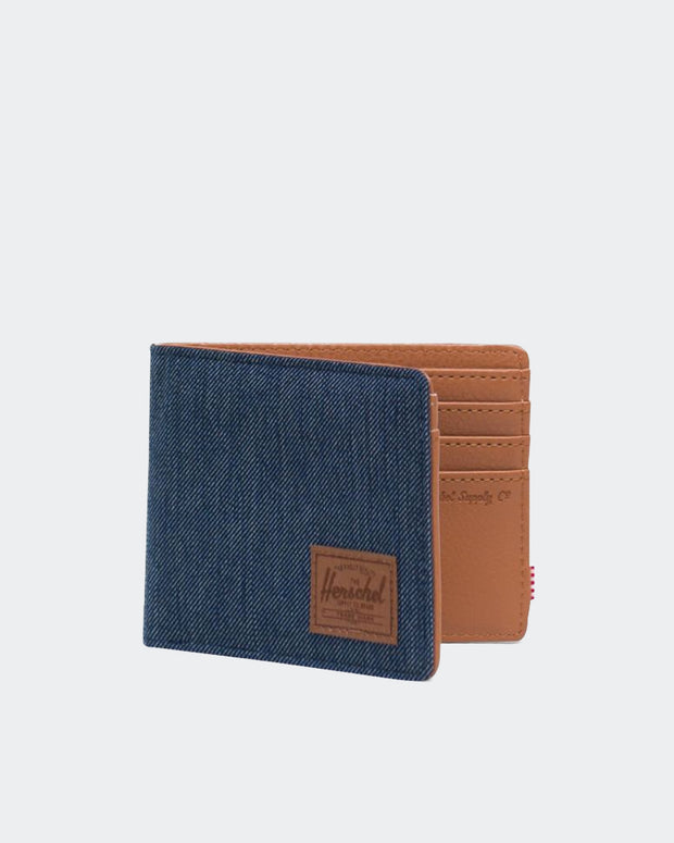 Hank Wallet + RFID - Indigo Denim Crosshatch