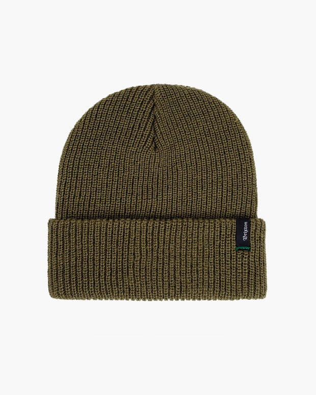 The Brixton Heist Beanie in Washed Olive