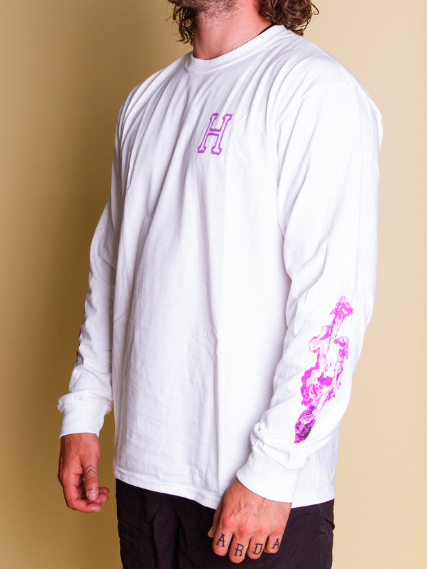 HUF - Screw Head Classic H LS Tee - White