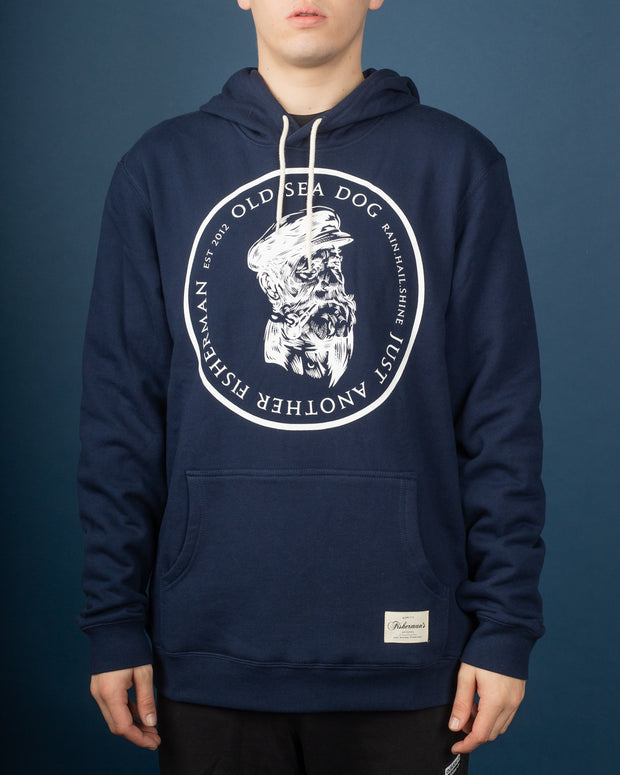 Old Sea Dog Hoodie - Navy