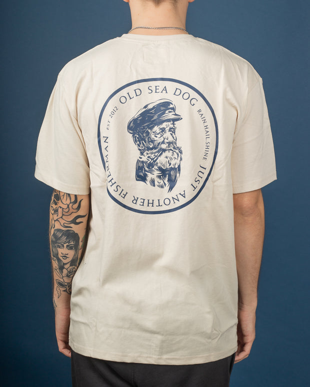 Just Another Fisherman - Old Sea Dog Tee - Washed Stone