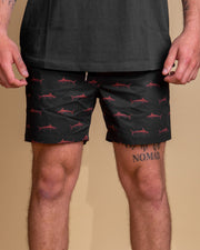 Just Another Fisherman Bluewater Critters Shorts in Aged Black / Rust