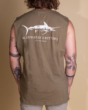 The Just Another Fisherman Bluewater Critters Tank in Olive