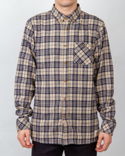 The Boatyard Shirt in Stone/Navy from Just Another Fisherman