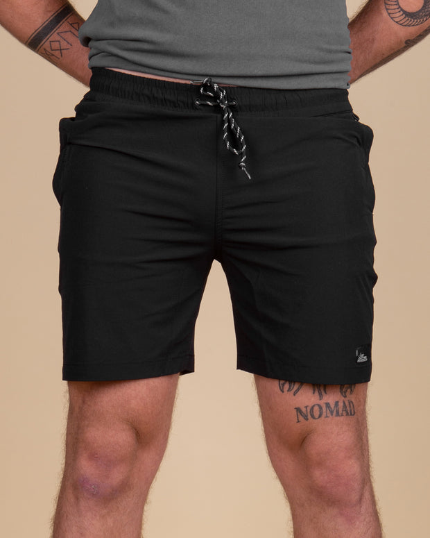 The Just Another Fisherman Crewman Shorts in Black