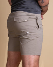 The Just Another Fisherman Crewman Shorts in Stone