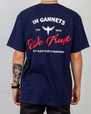 The Just Another Fisherman In Gannets We Trust Tee in navy