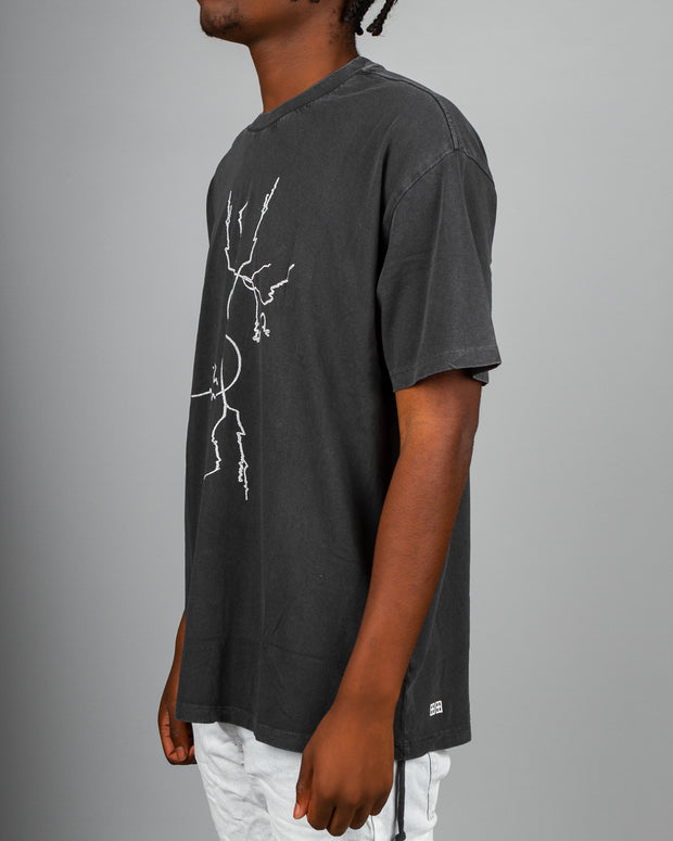 Dollar Sign Tee - Faded Black