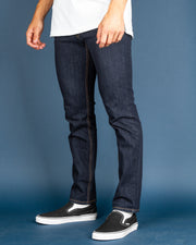 The Levi's 511 is a slim fit from hip to ankle. Features five pocket styling, zip fly, and is constructed with stretch denim in Dark Stonewash.