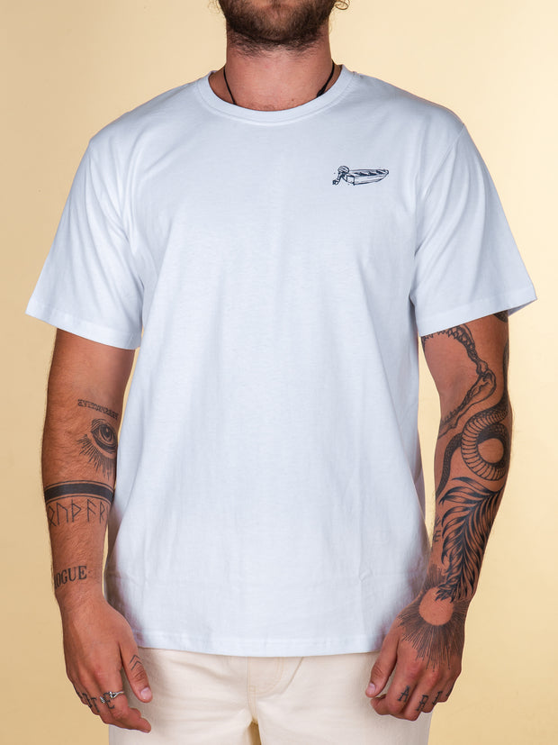 The Just Another Fisherman Dinghy Tee in White