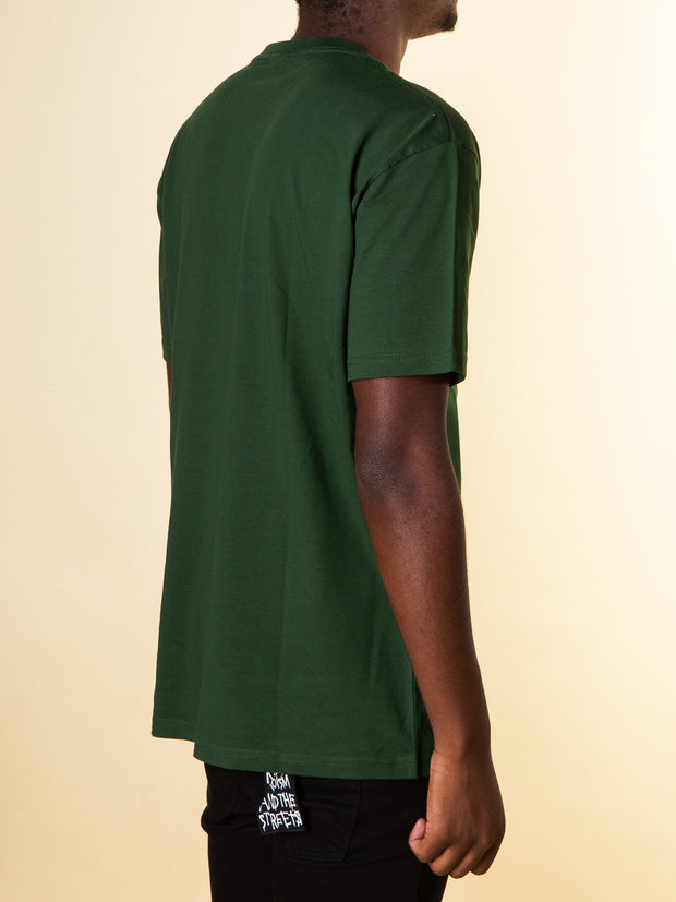 After Hours Clothing Arc Tee in Forest Green