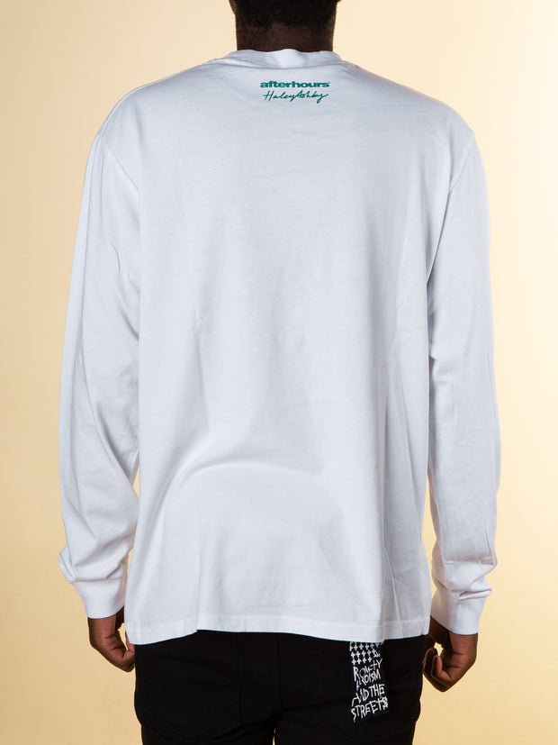 After Hours Clothing Florida Long Sleeve Tee in White