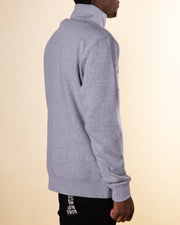 After Hours Clothing Bar 1/4 Zip Fleece in Grey Marle