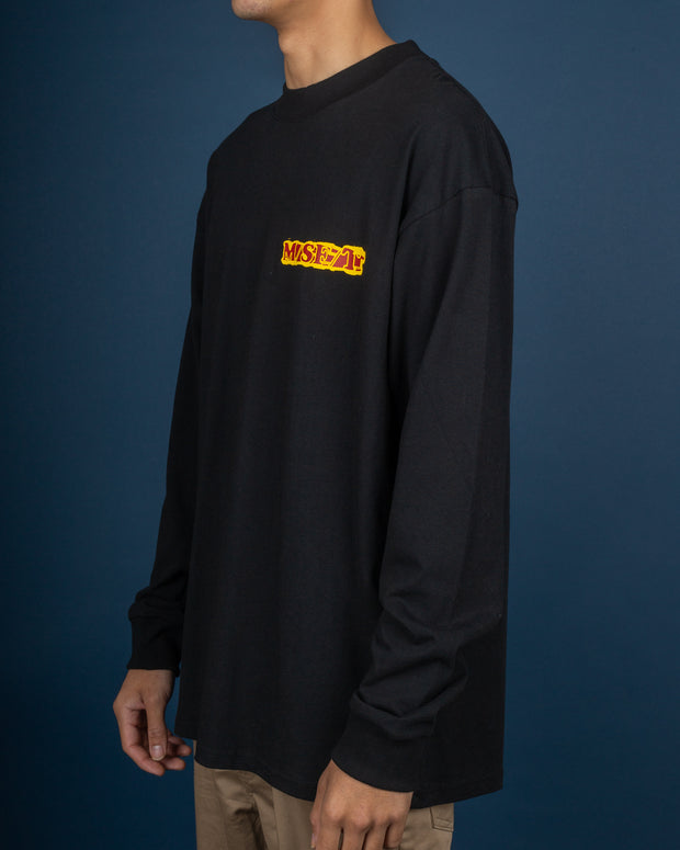 Welcome To Earth L/S Tee - Washed Black