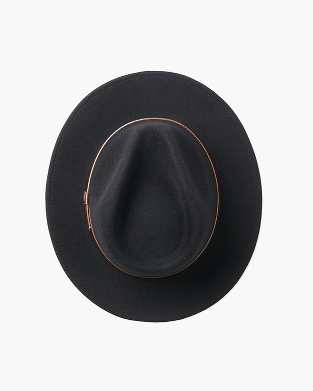 Messer Fedora Hat  - Black