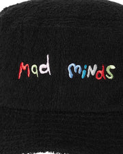 MISFIT Bucket Hat with 'MAD MINDS' logo embroidered in a colour font font on the front.