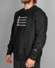 Champion - Reverse Weave Crew With Graphic - Black
