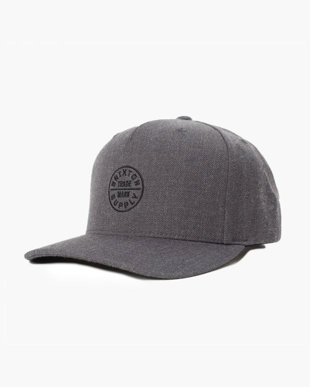 The Brixton Oath MP Snapback Cap in Heather Charcoal