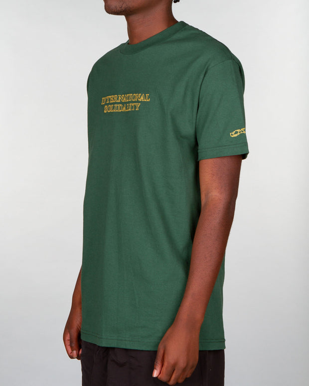 Forest Green PassPort Short-sleeve t-shirt with embroidery