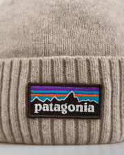 The Patagonia Brodeo Beanie, a classic cuff beanie made from a premium blend of recycled wool, nylon and spandex. A cosy staple for your winter wardrobe, wrapped in a clean drifter grey colourway and featuring an embroidered Patagonia logo on the cuff. This knit promises to keep out the chill and lock the warmth in. Shop Beanies at FallenFront NZ.