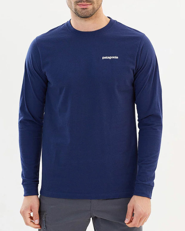 The Patagonia P-6 Responsibili Long-sleeve Tee in Navy