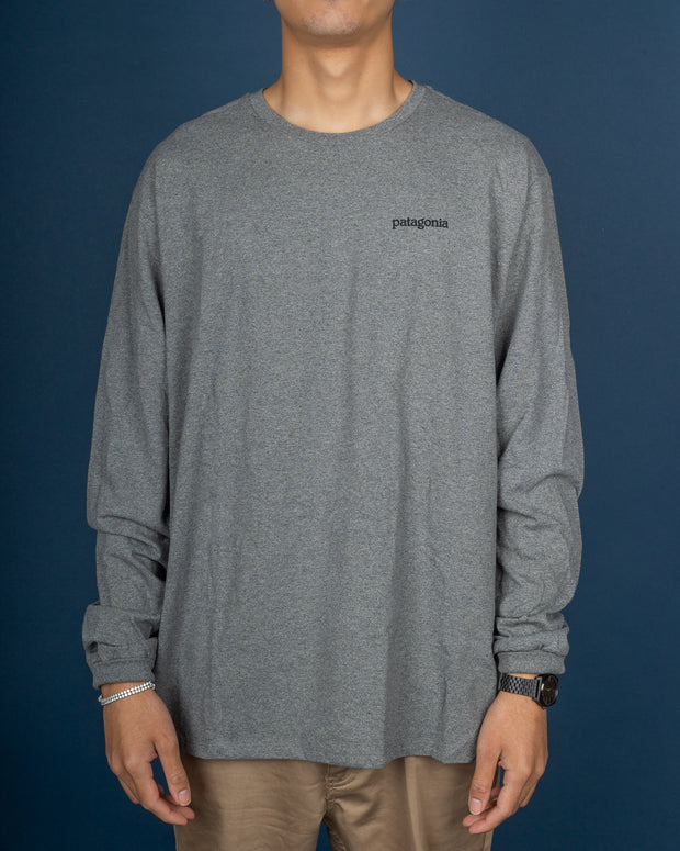Fitz Roy Horizon L/S Responsibili Tee - Gravel Heather