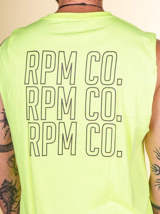 RPM - Stacker Muscle Tank - Neon