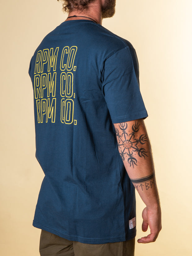 RPM - Stacker Tee - Cobalt