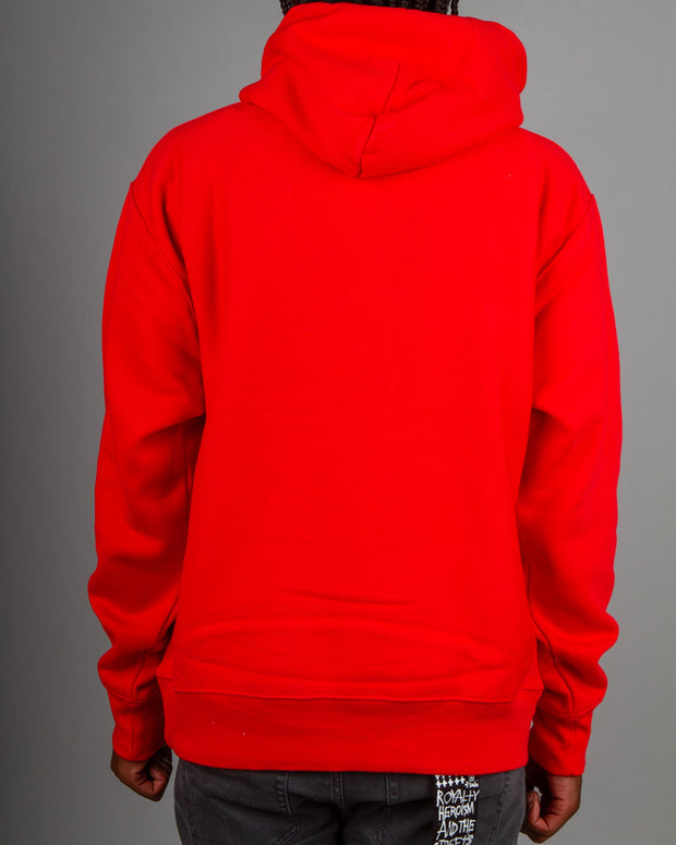 Champion Reverse Weave Pullover Hood in Team Red Scarlet