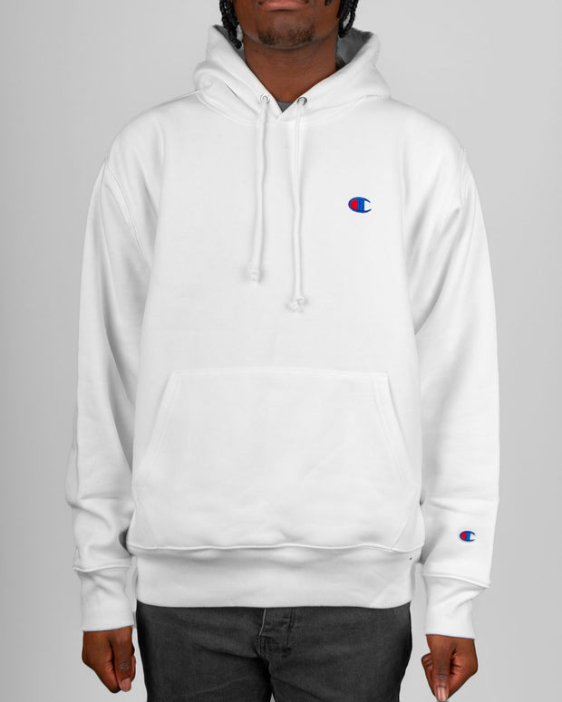 Champion Reverse Weave Pullover Hood in White