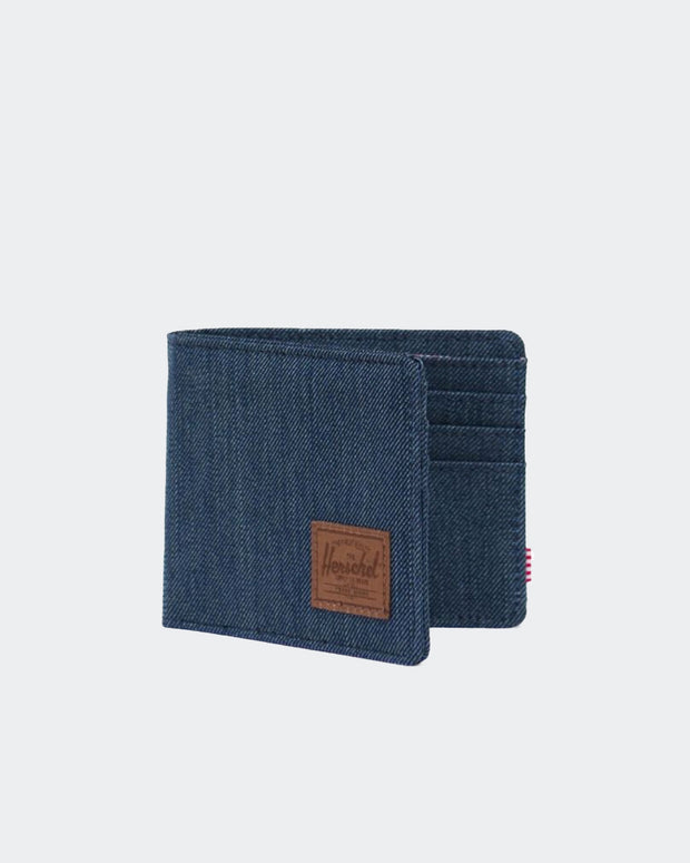 Roy Wallet + RFID - Indigo Denim Crosshatch