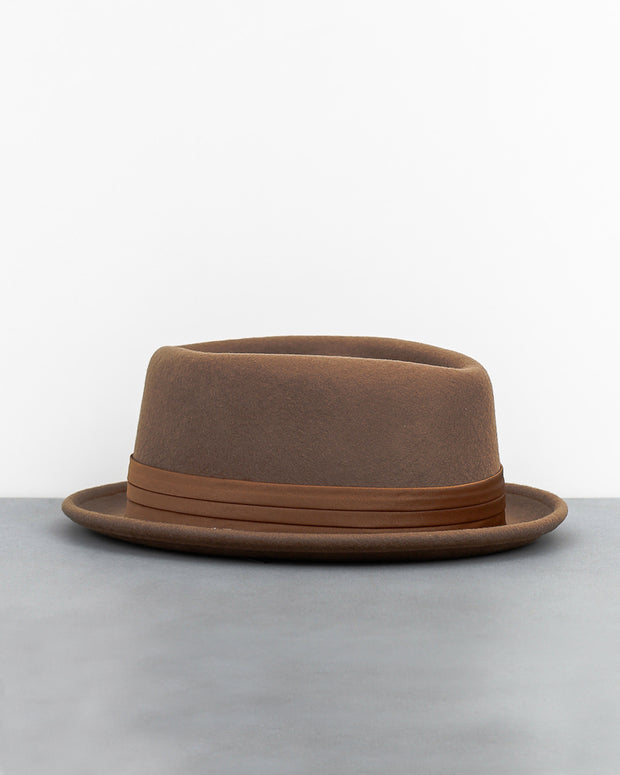 Stout Pork Pie Hat - Camel
