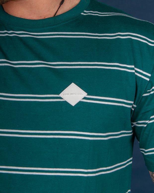 RPM - Stripe Tee - Teal Stripe