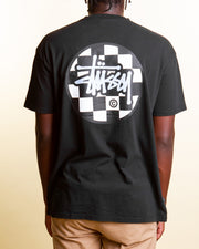 A classic staple, the Stussy Chequer Dot Tee in Pigment Black is a laid-back short-sleeve t-shirt style that features a graphic print on the front and back. Coming in a comfortable and relaxed fit, this pure cotton tee is signed off with premium trims and a ribbed crew neckline.