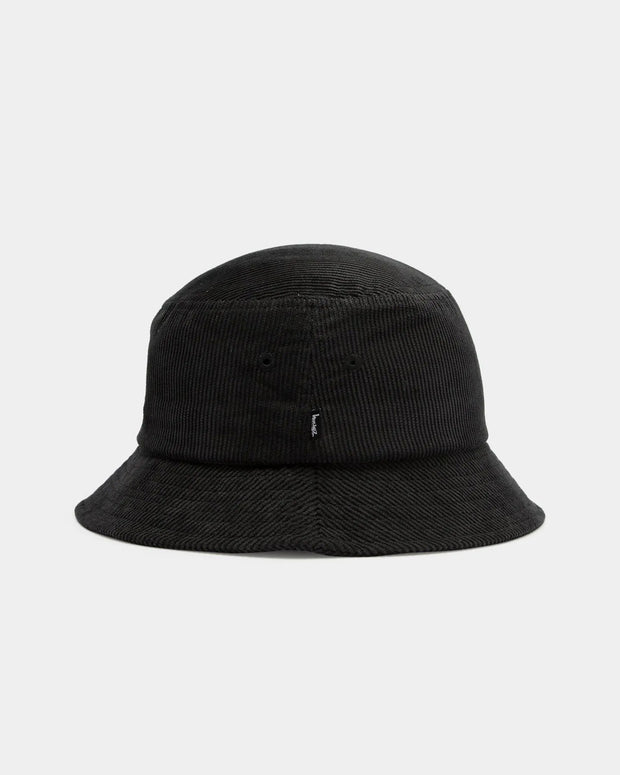 Bringing some fresh accessories into the Fallen Front vault, the Stussy Graffiti Cord Bucket Hat in Black is an everyday staple, to be worn with anything in your wardrobe. Constructed from premium and soft cotton corduroy fabric, this mid-crown bucket hat features a short, unstructured brim and is signed off with subtle embroidered branding at the centre front.