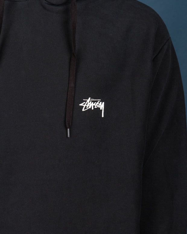 The Stussy Stock Hood in Pigment Black is back at Fallen Front. The perfect layering pullover, made from pure cotton fleece and featuring elasticated cuffs and hem. Constructed with a front kangaroo pocket in an oversized fit, whilst signed off with the signature Stussy logo detailed on the front left chest.