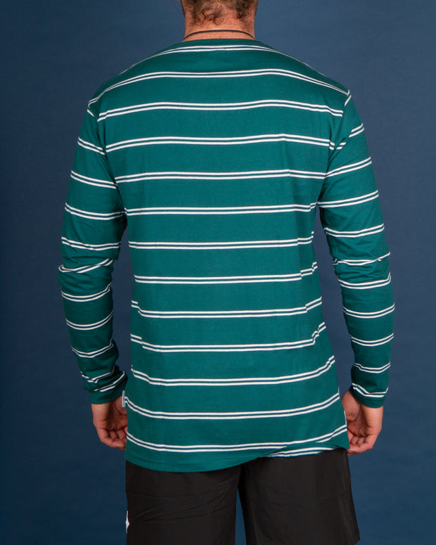 RPM - Stripe LS Tee - Teal Stripe