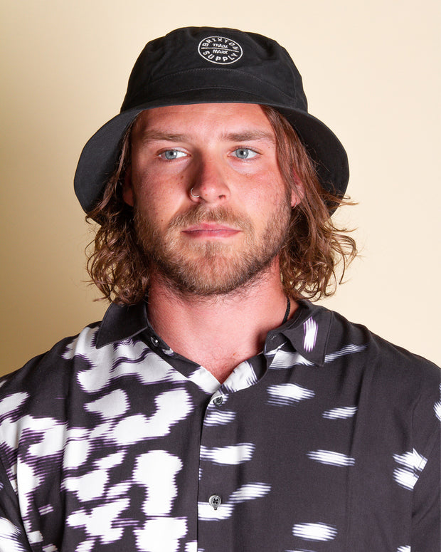 The Brixton Oath Bucket Hat in Black