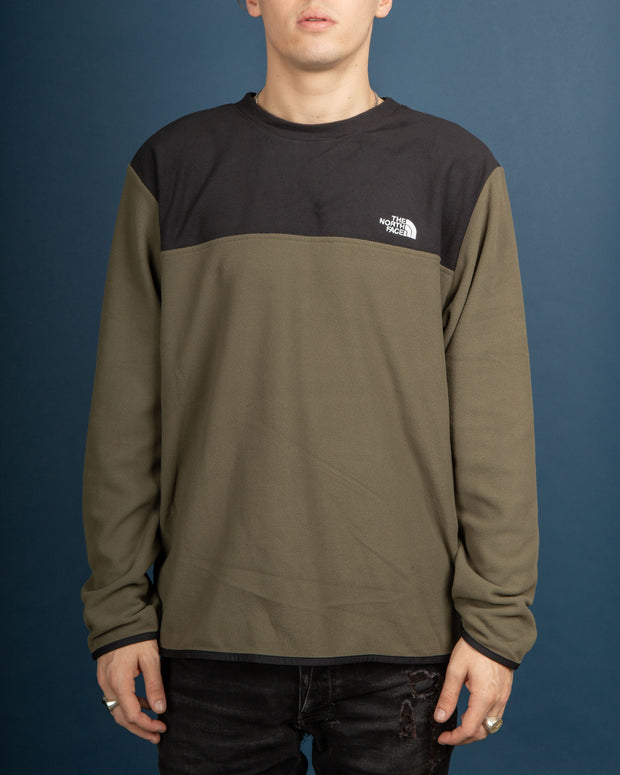 The North Face TKA Glacier Fleece Pullover Crew - New Taupe Green