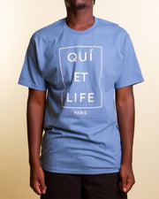 A simple favourite from The Quiet Life. The Paris Short-sleeve t-shirt is made from a premium cotton jersey. A structured, relaxed cut that arrives in a slate blue colourway and features a custom TQL graphic printed on the centre front for simple branding hits.