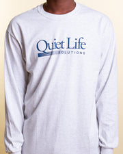 You can't go wrong with a classic grey long-sleeve. The latest from The Quiet Life has entered the Fallen Front Vault, starting with this perfect everyday staple. The Quiet Life Solutions Long Sleeve Tee in Ash Heather is perfect for all four seasons, cut from pure cotton and featuring a front screen printed graphic, signed off with ribbed cuffs and trims.